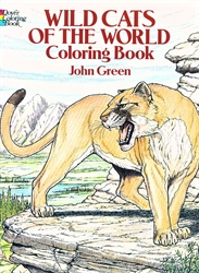 Wild Cats of the World - Coloring Book