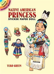 Native American Princess Sticker Paper Doll - Activity Book