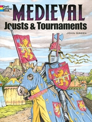 Medieval Jousts and Tournaments - Coloring Book