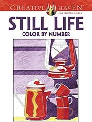 Creative Haven Still Life: Color By Number - Coloring Book