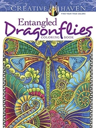 Creative Haven Entangled Dragonflies - Coloring Book