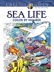 Creative Haven Sea Life - Color by Number