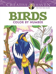 Creative Haven Birds - Color by Number