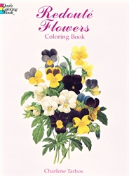 Redoute Flowers - Coloring Book