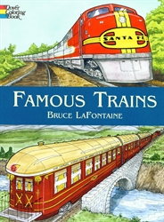 Famous Trains - Coloring Book