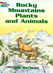 Rocky Mountains Plants and Animals - Coloring Book