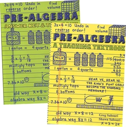 Teaching Textbooks Pre-Algebra - Textbook & Answer Key (old)