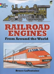 Railroad Engines from Around the World - Coloring Book