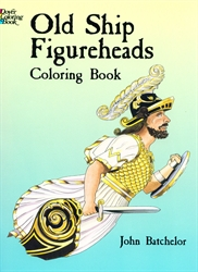 Old Ship Figureheads - Coloring Book