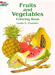 Fruits and Vegetables - Coloring Book