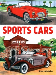Sports Cars - Coloring Book