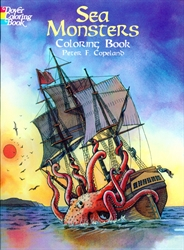 Sea Monsters - Coloring Book