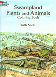 Swampland Plants and Animals - Coloring Book