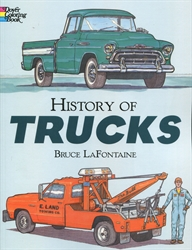 History of Trucks - Coloring Book