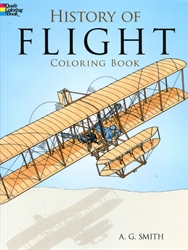 History of Flight - Coloring Book