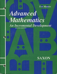 Saxon Advanced Math - Test Masters