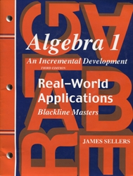 Saxon Algebra 1 - Real-World Applications Blackline Masters