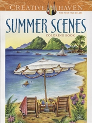 Creative Haven Summer Scenes - Coloring Book