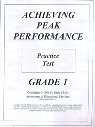 Achieving Peak Performance Grade 1 - Practice Test