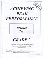 Achieving Peak Performance Grade 2 - Practice Test