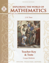 Exploring the World of Mathematics - Teacher Key & Tests