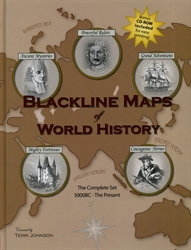 Blackline Maps of World History - The Complete Set with CD-ROM