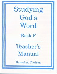 Studying God's Word F - Answer Key