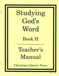 Studying God's Word H - Answer Key