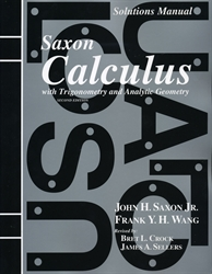 Saxon Calculus - Solutions Manual