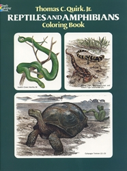Reptiles and Amphibians - Coloring Book