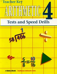 Arithmetic 4 - Tests/Speed Drills Key (old)