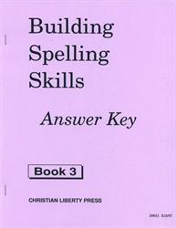 Building Spelling Skills Book 3 - Answer Key (old)