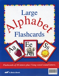 Large Alphabet Flashcards (Manuscript)