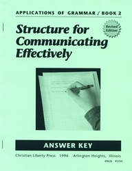 Applications of Grammar Book 2 - Answer Key