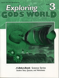 Exploring God's World - Test/Quiz Key (old)