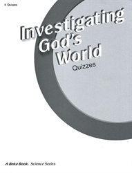 Investigating God's World - Quiz Book (old)