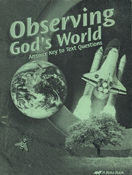 Observing God's World - Answer Key (old)