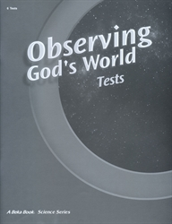 Observing God's World - Test Book (old)