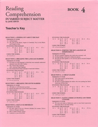 Reading comprehension in varied subject matter book 5 answer key