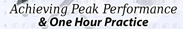 Achieving Peak Performance & One Hour Practice