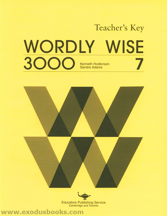 wordly wise 3000 book 7 answer key really old exodus books