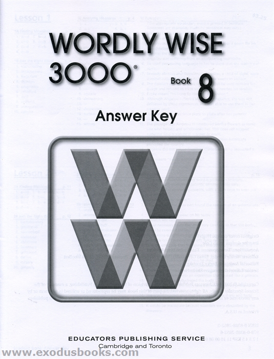 wordly wise 3000 book 8 answer key old exodus books