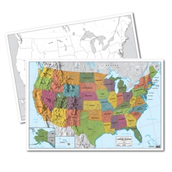 USA Mark-It Map (double-sided laminated)