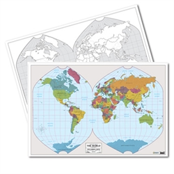 World Mark-It Map (double-sided laminated)