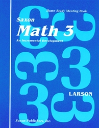 Saxon Math 3 - Home Study Meeting Book