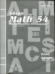 Saxon Math 5/4 - Test Forms (old)