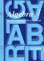 Saxon Algebra 1/2 - Textbook
