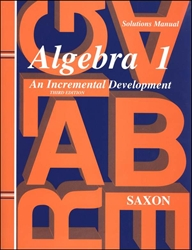 Saxon Algebra 1 - Solutions Manual