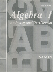 Saxon Algebra 1 - Test Forms