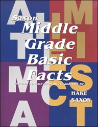 Saxon Math Middle Grade Basic Facts Cards